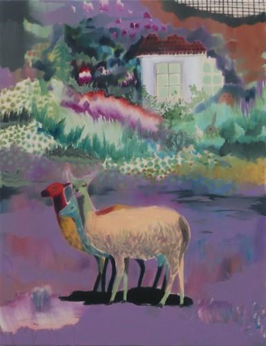 Zeitgenöschische, 2008 - Huile sur toile de coton 90 x 70 cm