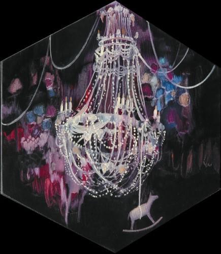 Gedanken uber die zeit, 2009 - Huile sur toile de coton 50 x 44 cm