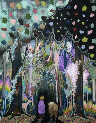 Bienvenue au centre, 2011 - Huile sur toile 117 x 91 cm