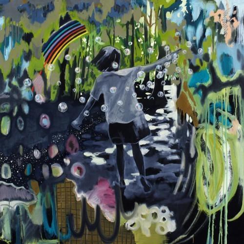 A Song of Lemon, 2012 - Huile sur toile 116,5 x 116,5 cm