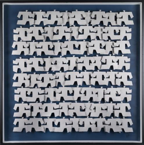 Agitations 1, 2011 - Technique mixte sur carton 120 x 120 cm