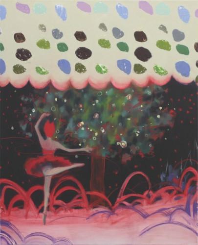 Faible fièvre, 2012 - Huile sur toile 91 x 73 cm