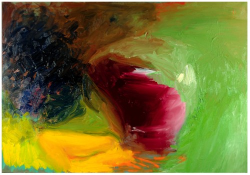 Sans titre III, 2008 - Huile sur toile 114 x 162 cm