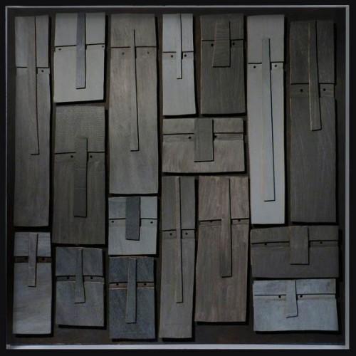 Témoins silencieux 12, 2013 - Mixte sur carton 120 x 120 cm