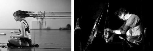 Attachement - Une performance de Manon Harrois, offerte au Générateur de Gentilly le 21 octobre 2012, Gilles T. Lacombe tisse et ré-habille.