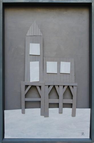 Forgotten summer 1 - 2013,Technique mixte avec carton, 120 x 80 cm