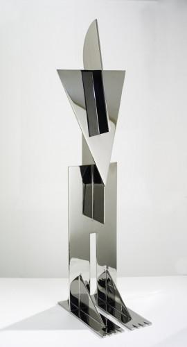 Totem 4 - Inox marine 304 78 x 25 x 15 cm, exemplaire unique