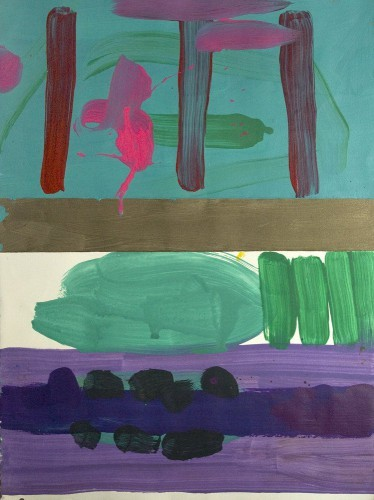 Lost painting 21 - 2000, mixte sur papier, 76 x 57 cm