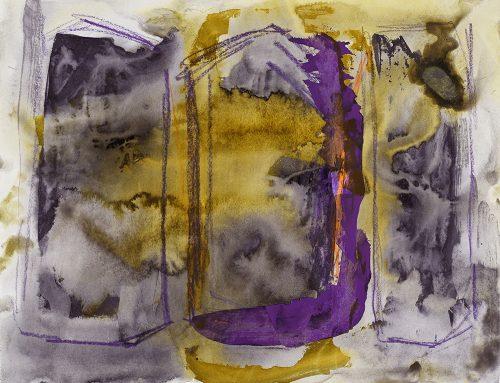 STP 11 - 2018, mixte sur papier, 50 x 65 cm