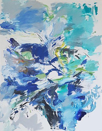 Sans titre 50 - 2018, huile sur toile, 162 x 130 cm
