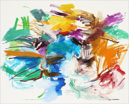Sans titre 48 - 2015, huile sur toile, 50 x 61 cm