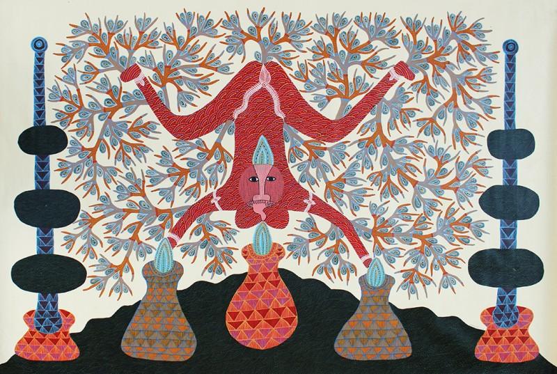 Sans titre, 2013, glycérophtlique sur toile, 143,5 x 205,5 cm.