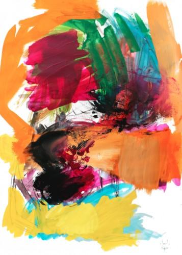 Sans titre P20 - 2015, acrylique sur papier, 105,5 x 75 cm