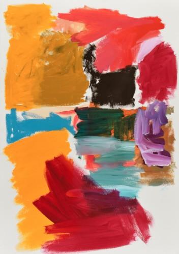 Sans titre P15 - 2015, acrylique sur papier, 100 x 71 cm