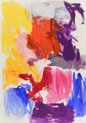Sans titre P13 - 2015, acrylique sur papier, 100 x 71 cm