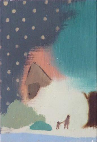 Sans titre, 2012 - 2012, huile sur toile, 22,5 x 16  cm