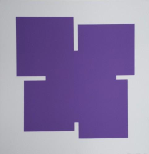 Violet on light gray - 2013, Sérigraphie originale sur papier 37,5 x 37,5 cm 50 exemplaires