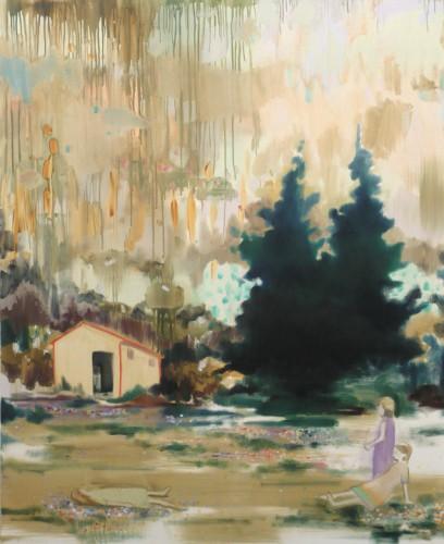 0,5 sekunden auf einen planet, 2007 - 2007, huile sur toile, 160 x 130 cm