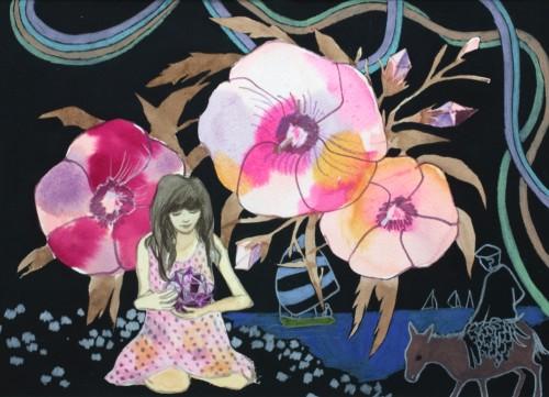 Ganymède, 2011 - 2011, crayon de couleur et aquarelle, 23 x 32 cm