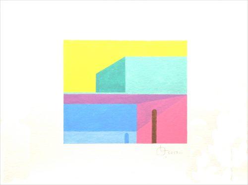 LB 75 - 2017, aquarelle sur papier, 24 x 32 cm