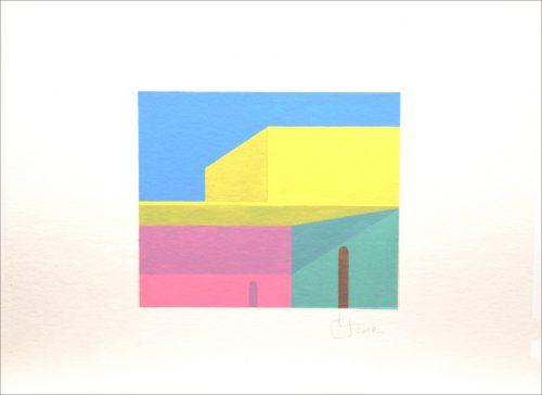 LB 81 - 2017, aquarelle sur papier, 24 x 32 cm