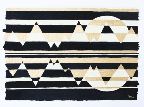 Sans titre 36 - 2014, mixte sur papier, 24 x 32 cm