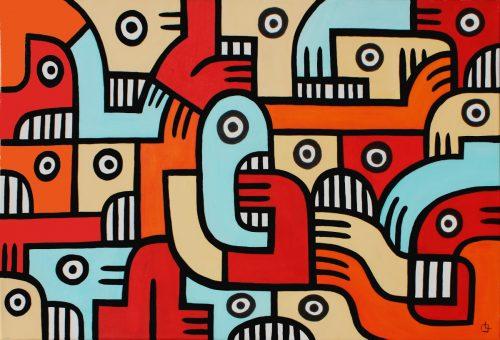 Untitled 3 - 2013, acrylic on canvas, 60 x 90 cm