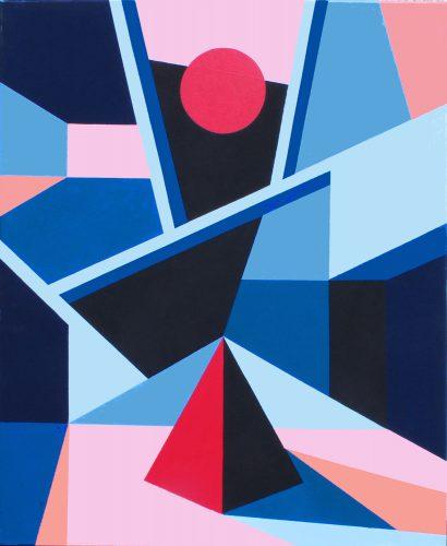 Sans titre 34 - 2015, acrylique sur toile, 81 x 65 cm