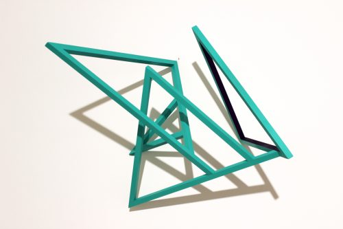 Structure 1 - 2015, wood and acrylic, 55 x 60 x 36 cm