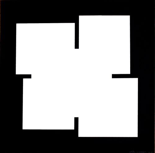 White on black - 2013, Sérigraphie originale sur papier 37,5 x 37,5 cm 50 exemplaires