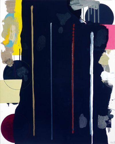 Toi -  2017, acrylique et sable sur toile, 76 x 61 cm