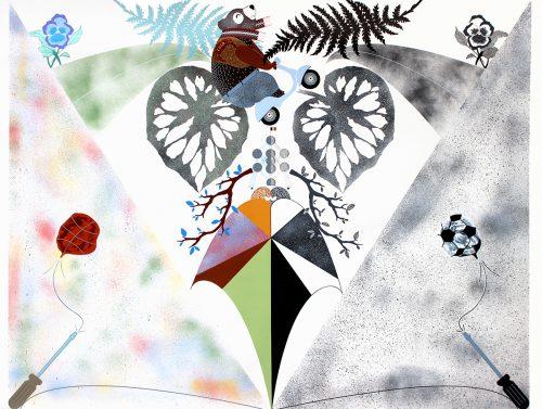 Bialystok 3 - 2015, fumigène et peinture sur papier arches, 114 x 150 cm