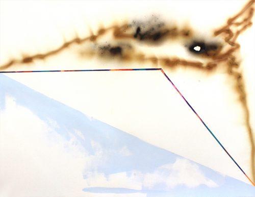 Bouleaux 3 - 2019, mixte sur papier,  46 x 61 cm