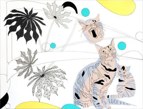 FullSizeRender - 2015, mixte sur papier,  46 x 61 cm