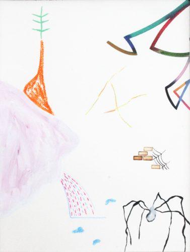 Sans titre - Cabinet Double Mafia - 2018, technique mixte sur papier, 41 x 30,5 cm