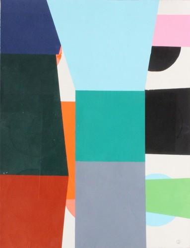 Série A 11 - 2005, mixte sur papier, 66 x 50,5  cm