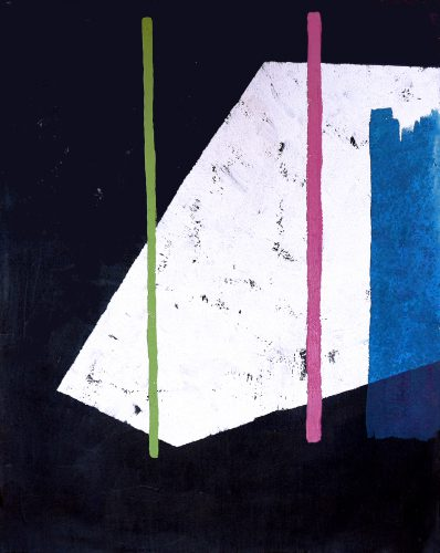 Blackpainting 3 - 2016, acrylique, sable et crayon sur toile, 81 x 65 cm