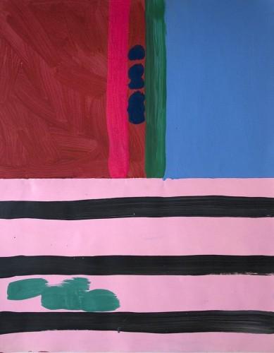 Lostpainting 16 - 2000, mixte sur papier, 76 x 57 cm