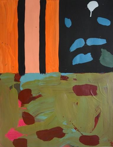 lostpainting18 - 2000, mixte sur papier, 2000, 76 x 57 cm