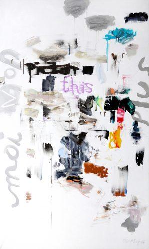 Moi non plus - 2017, mixte sur toile, 162 x 97 cm