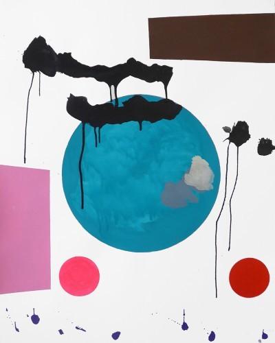 Returning  - 2015, mixte sur papier, 100 x 80 cm