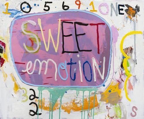 Sweet emotion -  2013, huile sur toile, 60 x 73 cm