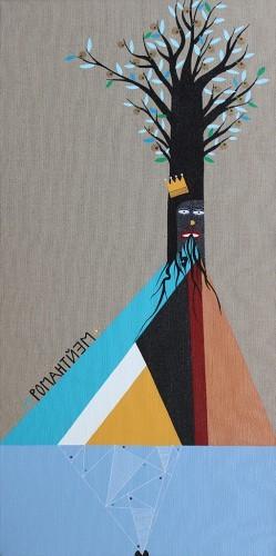 Romantisme -  2009, huile sur toile, 80 x 40 cm