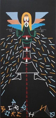 Résurection - 2009, huile sur toile, 80 x 40 cm