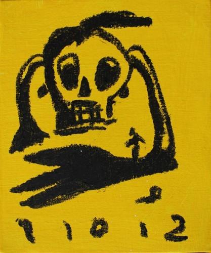 Sans titre - 2012, mixte sur toile, 27 x 22 cm