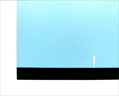 Sans titre - 2013, acrylique sur toile, 81 x 100 cm