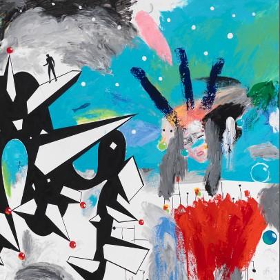 Sans titre - 2012-2013, Mixte sur toile, 270 x 480 cm (détail)