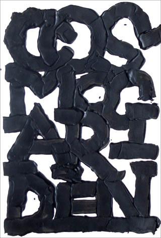 Sans titre - acrylique sur papier, 53 x 36 cm