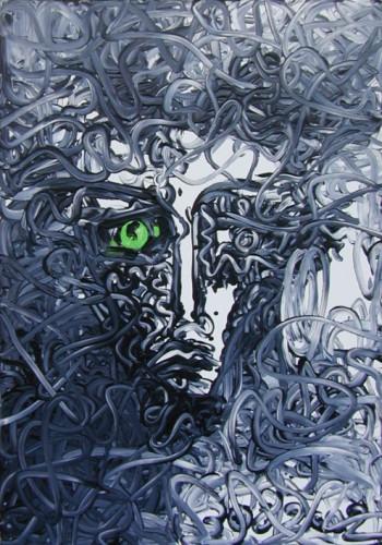 Portrait - 2011, acrylique sur toile, 116 x 81 cm