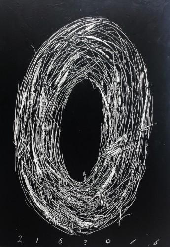 Sans titre - 2016, acrylique sur toile, 195 x 130 cm